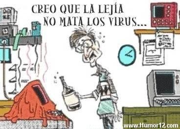 Creo que la lejía no mata los virus...