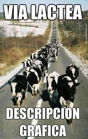 Via lactea, descripcion grafica