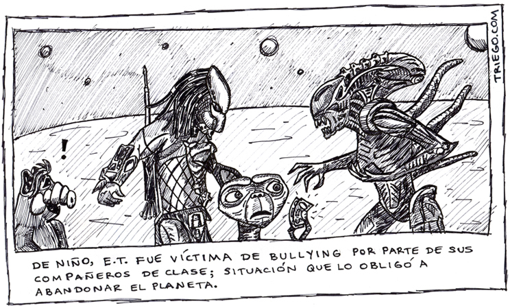 Bullying extraterrestre - Chistes graficos - Humor12.