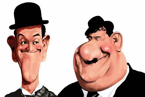 El gordo y el flaco - Caricaturas de famosos - Humor12.