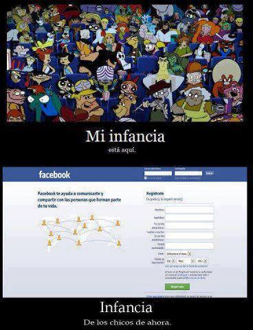Infancia antes vs despues