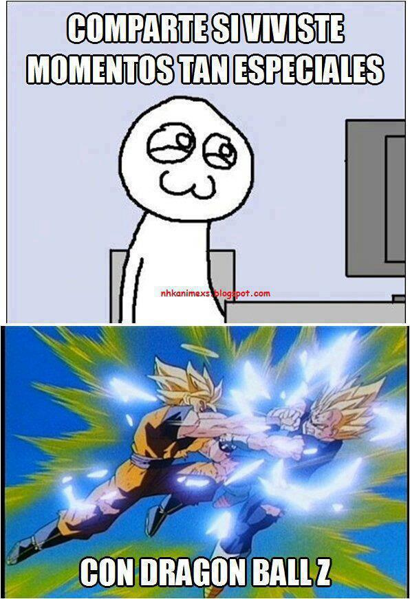 Momentos especiales con Dragon Ball Z